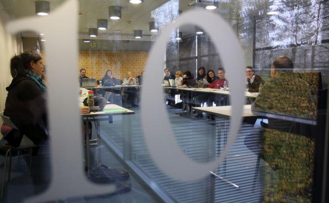Ljubljana 21.11.2012 - Studentje na FDV-ju.foto:Blaz Samec/DELO