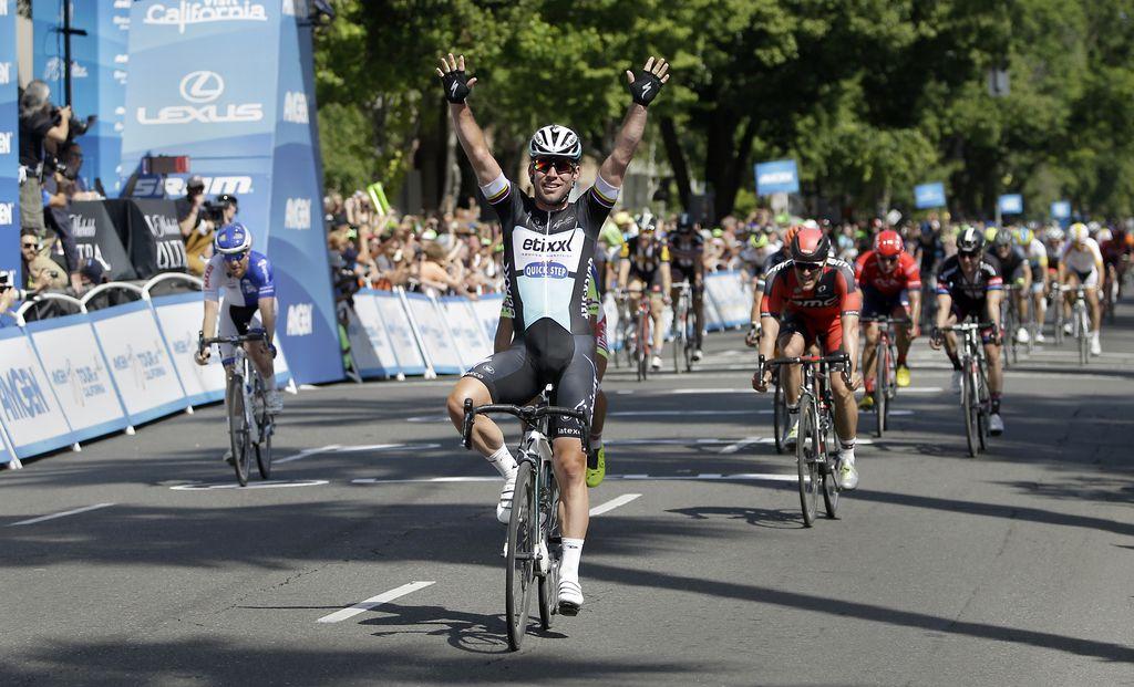 Po Kaliforniji: Cavendish dobil prvo etapo, blizu tudi Kocjan