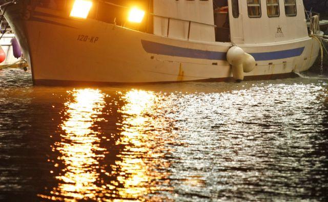 Portoroz 12.1.2012, ribici med ribolovom foto: Tomi Lombar