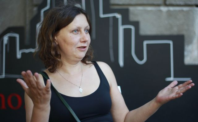 Rusinja Jelena Kiseljova, scenaristka filma Poštarjeve bele noči, Ljubljana, 8. junija 2015