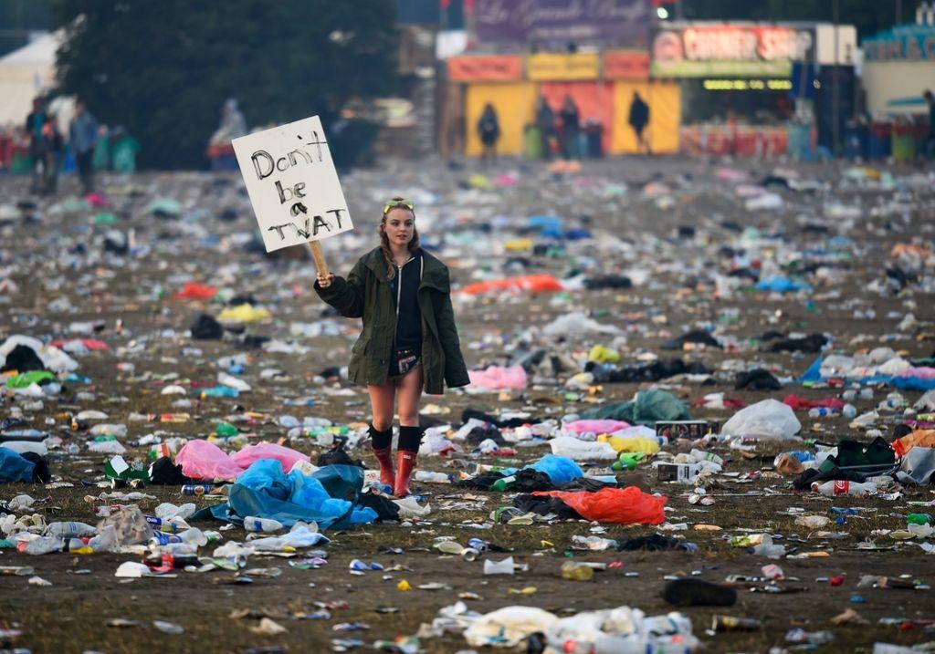 Glastonbury - festival ljudi