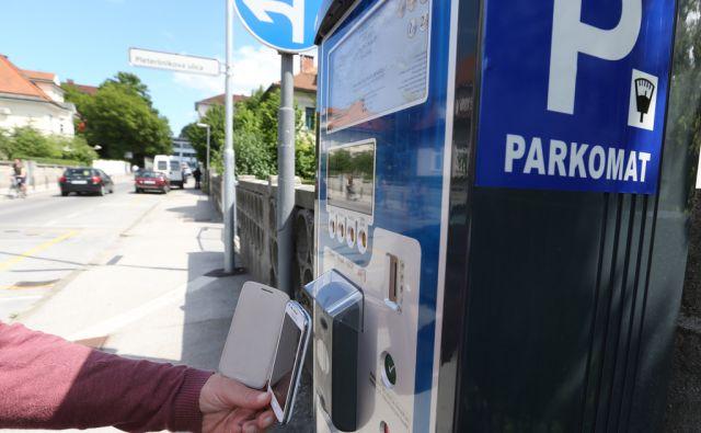 Plačevanje parkirnine z mobilnim telefonom, Ljubljana, 20.Maj2014