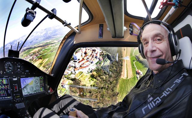 Ivo Boscarol med poletom. Ajdovščina 9. april 2015.