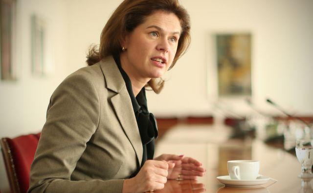 Alenka Bratušek nekdanja predsednica vlade in poslanka stranke ZaAB v Ljubljani, Slovenija 22.oktobra 2014.