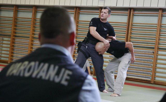 Prikaz samoobrambe varnostnikov v Tacnu, 21. avgusta 2015 [samoobramba,borilne veščine,varnostniki,Ljubljana]