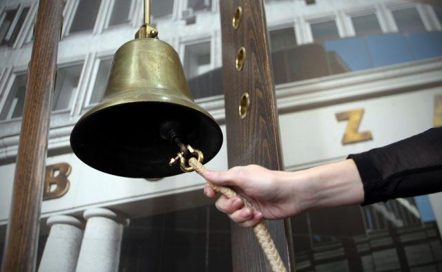 Ljubljana 30.11.2012 - Borzni zvonec na ljubljanski borzi.foto:Blaz Samec/DELO