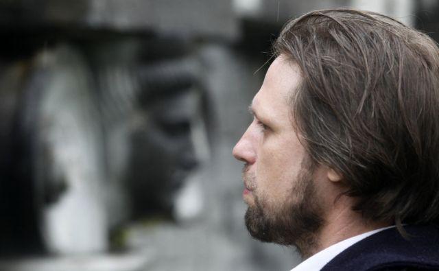 Umetnostni zgodovinar in pesnik MIklavž komelj. V Ljubljani 14.10.2015[umetnost,arhitektura,poezija]