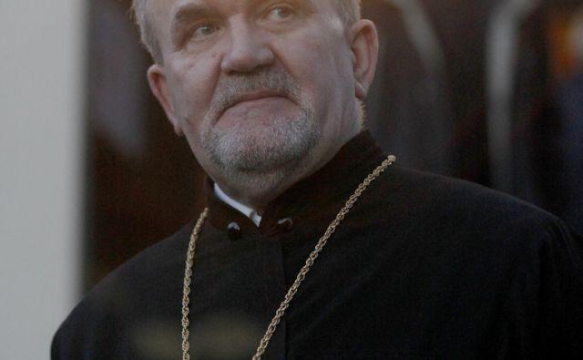 Praznovanje božiča pravoslavnih vernikov. Paroh Peran Bošković .V Ljubljani 6.1.2014