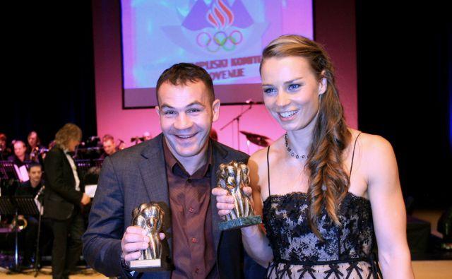 Slovenija, Ljubljana, 22.12.2010. Dejan ZAVEC in Tina MAZE, sportnika leta 2010 na prireditvi sportnik leta 2010. Foto: Uros HOCEVAR/Delo