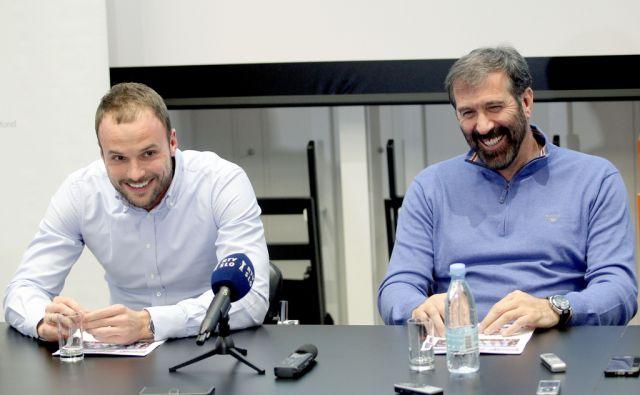 Veselin Vujović in Uroš Zorman na tiskovni konferenci,Ljubljana Slovenija 14.12.2015 [Šport.rokomet]