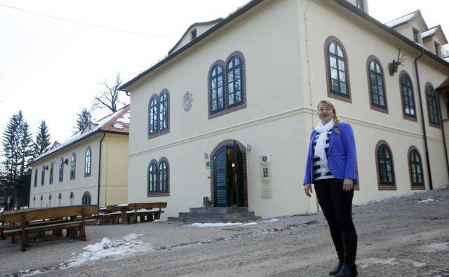 Tamara Ule najemnica grajske pristave. V Snežniku 4.12.2015[grad snežnik,pristava,portret]
