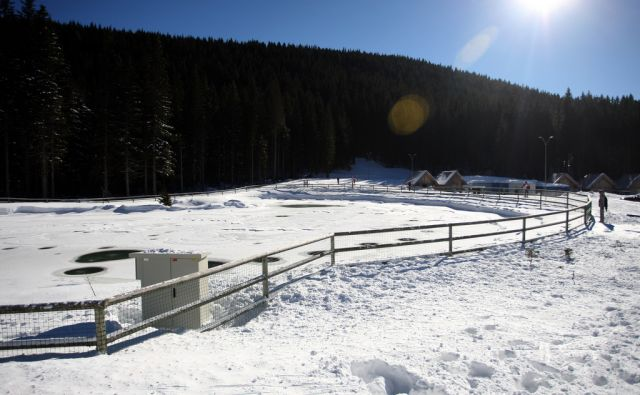 Rudno polje,akumulacijsko jezero,Pokljuka Slovenija 25.01.2014