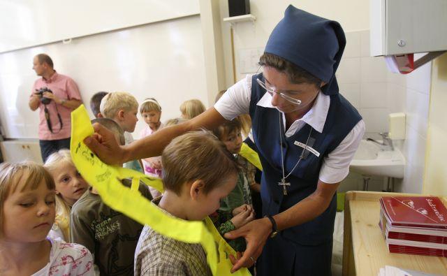 Ljubljana 01.09.2008 - Prvi šolski dan na OŠ Alojzija Šuštarja.foto:Blaž Samec/DELO