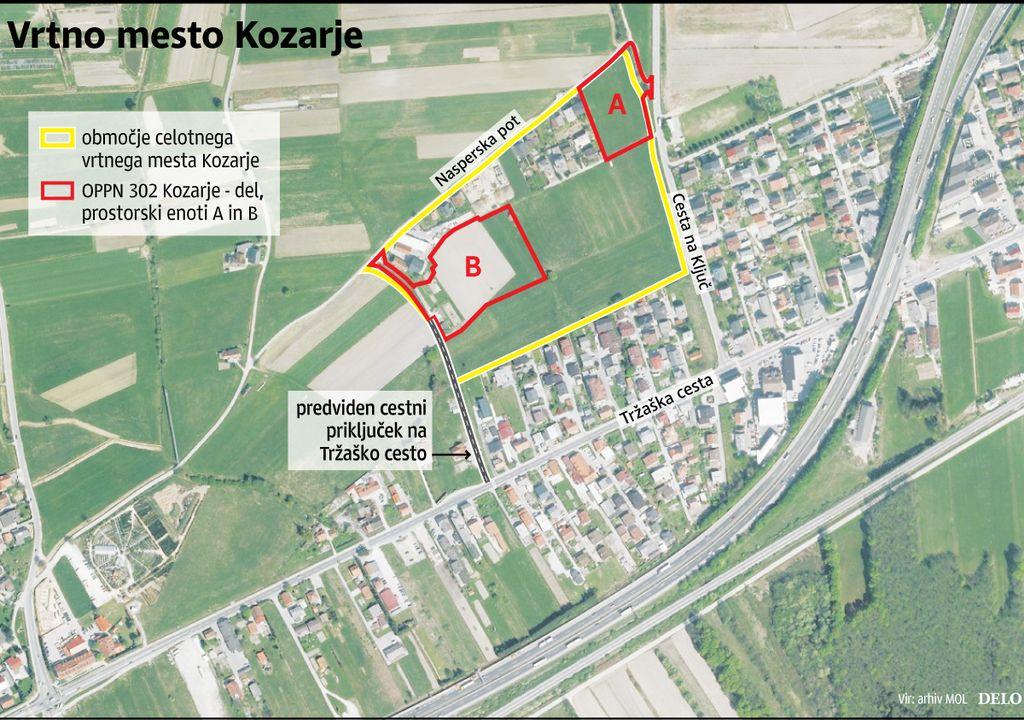 Sosedje: Vrtno mesto Kozarje obdelajte kot celoto