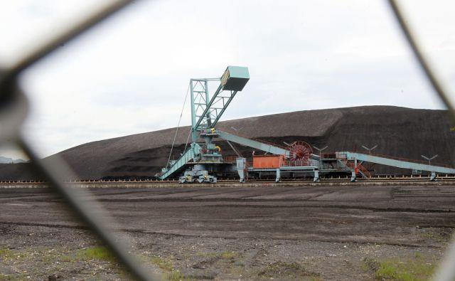 Deponija premoga za termoelektrarno Šoštanj 08.julija 2014