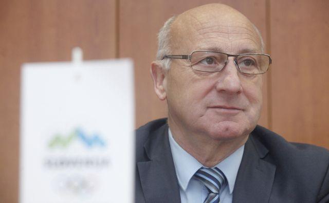 Predsednik OKS Bogdana Gabrovca. V Ljubljani 4.12.2015[olimpijski komite,šport]