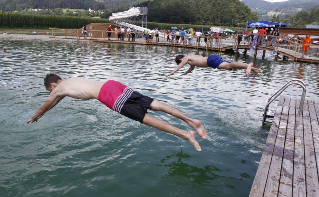 Umetno kopalno jezero Radlje ob Dravi 2.8.2014