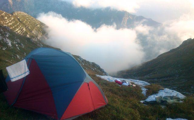 šotori v gorah