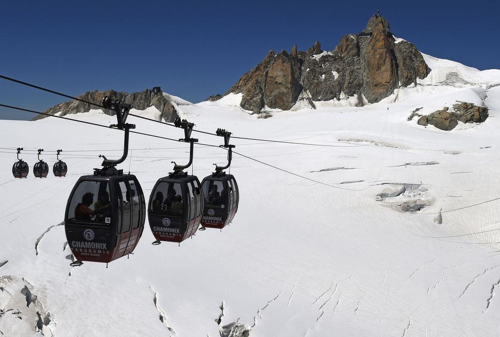 Kabinska žičnica v masivu Mont Blanca ponovno obratuje