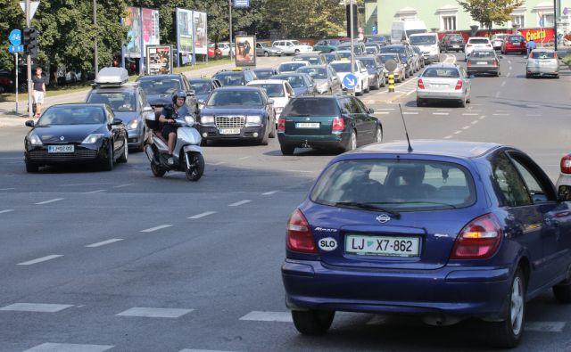 Gneča na ljubljanskih cestah zaradi prenove Dunajske ceste Ljubljana 29.8.2016 [cesta,gneča,prenova]