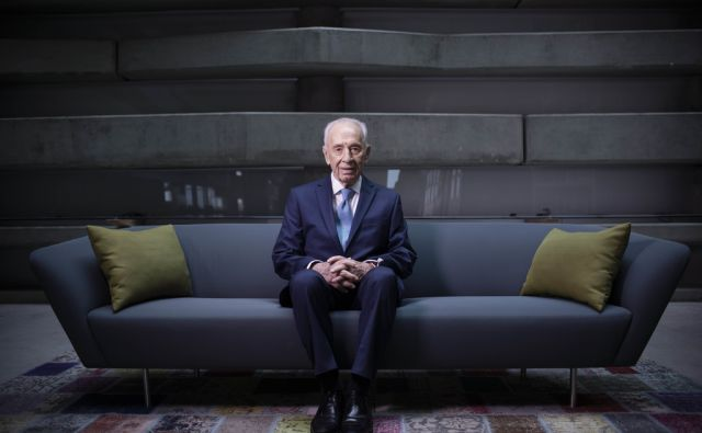 In this Monday, Feb. 8, 2016 photo, Israel's former President Shimon Peres poses for a portrait at the Peres Center for Peace in Jaffa, Israel. (AP Photo/Oded Balilty)