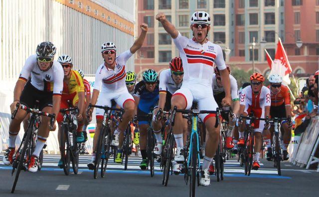 CYCLING-QAT-WORLD-CHAMPIONSHIPS-PODIUM