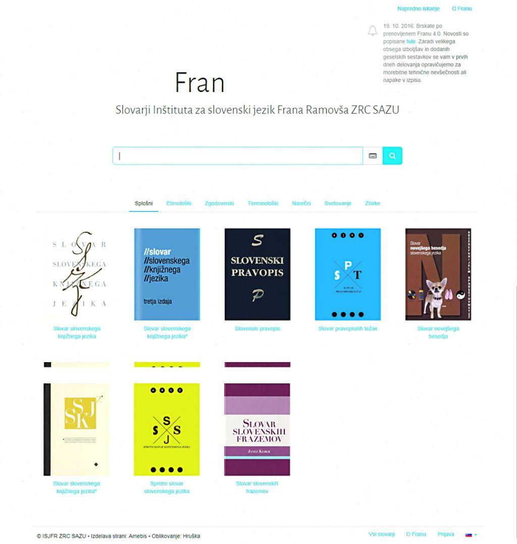 Fran 4.0: Google slovenskih jezikovnih slovarjev