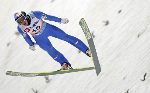 Gregor Schlierenzauer na tekmi svetovnega pokala v smučarskih skokih, Planica 21.marec 2014
