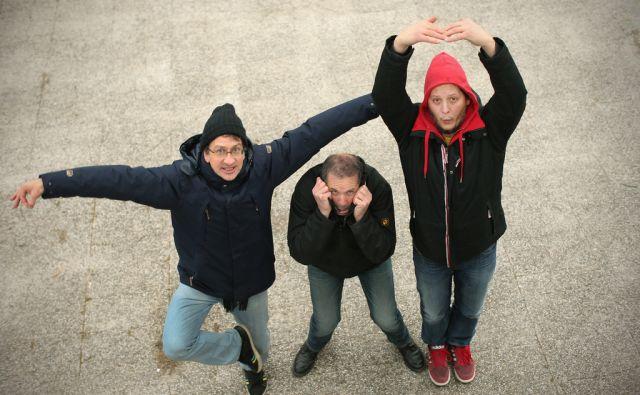 Člani primorske pop-rock skupine Zmelkoow. Ljubljana, Slovenija 10.januarja 2017. [Zmelkoow,glasbene skupine,glasbeniki,portreti]