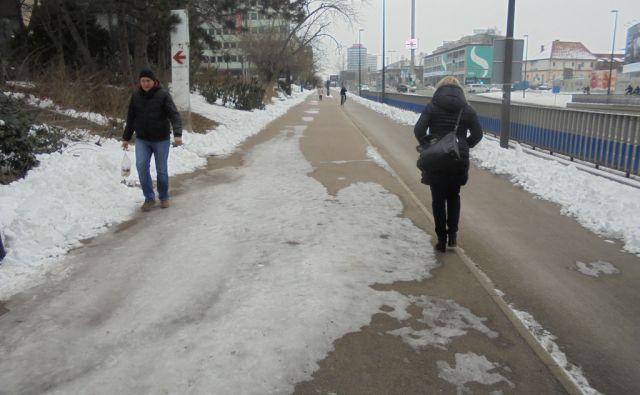 Snežne težave v Ljubljani