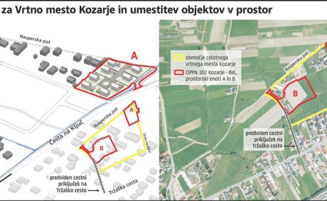 Grafika Vrtnega mesta Kozarje