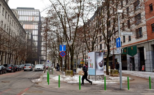 Kolodvorska ulica v Ljubljani, 30. januar 2017 [Ljubljana, ulice, Kolodvorska ulica]