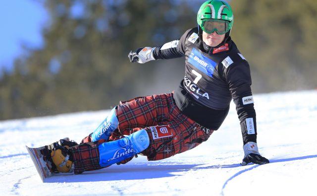 Rok Marguč, tekma za svetovni pokal v deskanju na snegu, 28.1.2017, Rogla [rok marguč, snowboard]