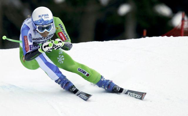 Slovenia's Ilka Stuhec competes during an alpine ski, women's World Cup super-G, in Garmisch-Panterkirchen, Germany, Sunday, Jan. 22, 2017. (AP Photo/Marco Trovati)