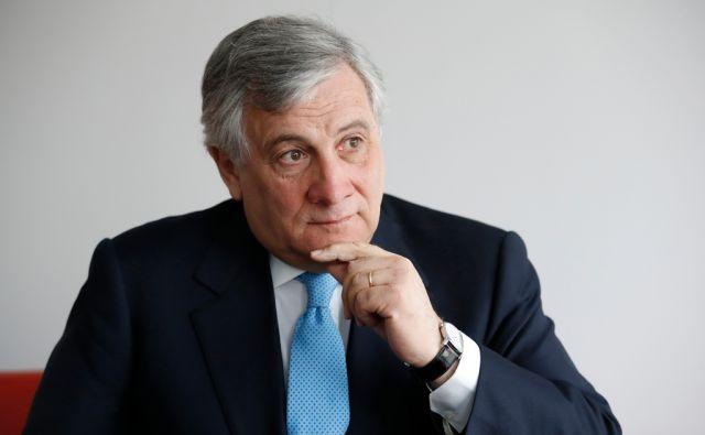 Antonio Tajani, predsednik evropskega parlamenta, v Ljubljani, 3. marca 2017. [Antonio Tajani,hiša evropske unije,politika,politiki,unija,Evropska unija]