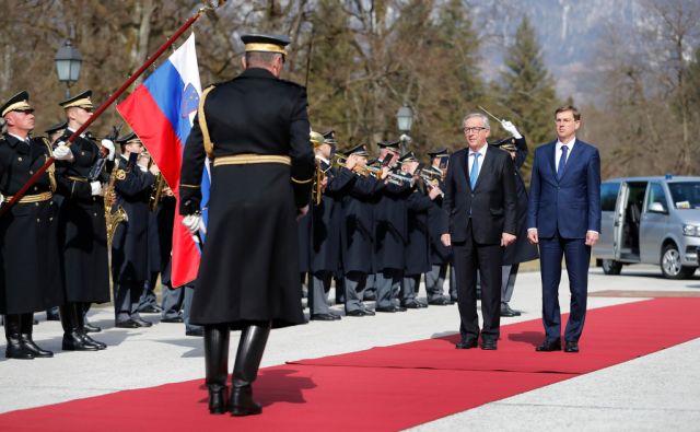 Jean - Claude Juncker, predsednik Evropske komisije, in Miro Cerar, predsednik vlade Republike Slovenije, na Brdu pri Kranju, 2. marca 2017. [Miro Cerar,Jean-Claude Juncker,Evropska komisija,Brdo pri