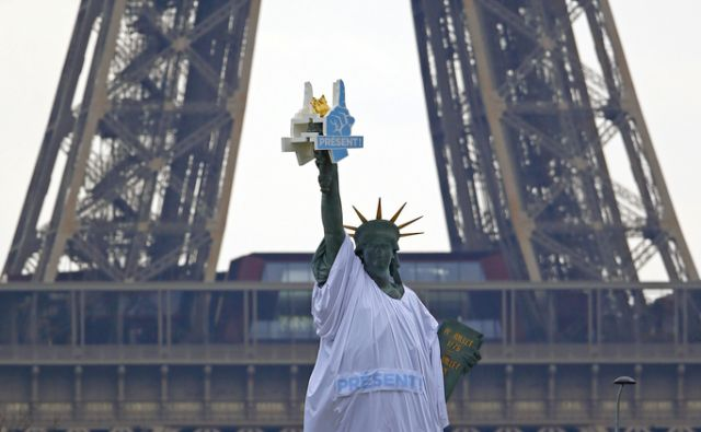 France Election Statue of Liberty