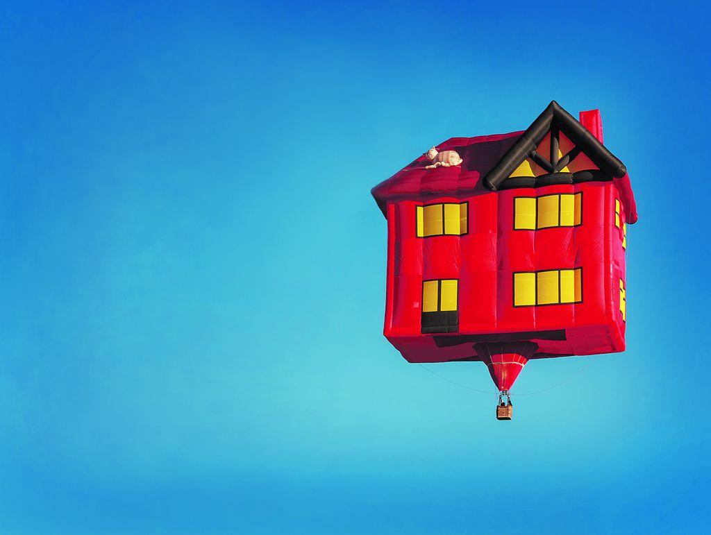 Dvig trga, kako daleč je balon