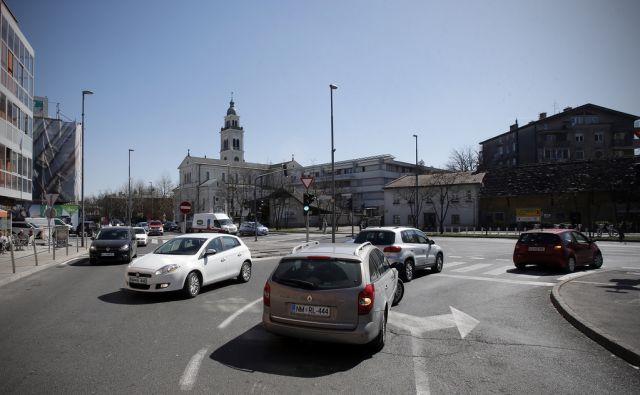 Tržaška cesta na Viču 28.marca 2017 [Tržaška cesta,Vič,križišča,promet]