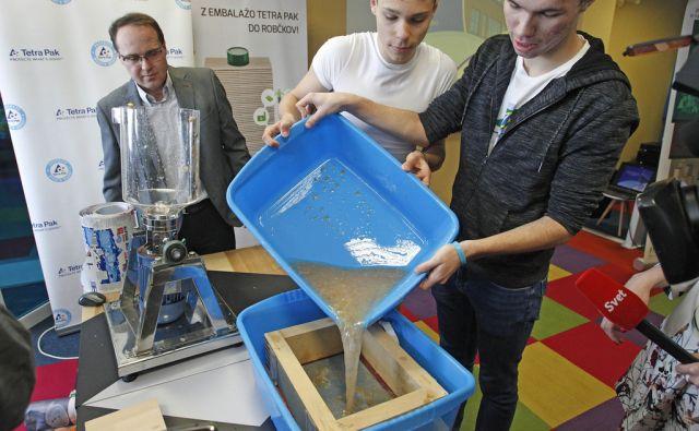 Predstavitev prvega partnerskega projekta krožnega gospodarstva za embalažo Tetra Pak v Ljubljani, 29. marec 2017 [Tetra Pak,Ljubljana,embalaža,reciklaža]
