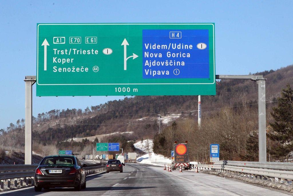 Obnova vipavske hitre ceste morda že to pomlad