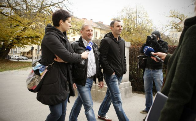 Slovenija, Ljubljana, 20.11.2012. Prihod obtozenih na sodisce vzadevi Balkanski bojevnik. Foto: Uros HOCEVAR/Delo