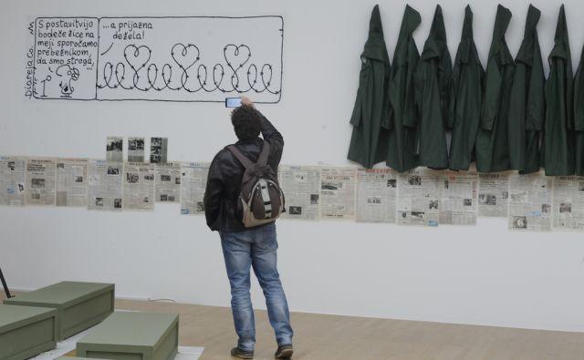 Razstava Dediščina 1989 v Moderni galeriji, 25. april 2017 v Ljubljani. [Razstave,Dediščina 1989,Moderna galerija,Ljubljana]