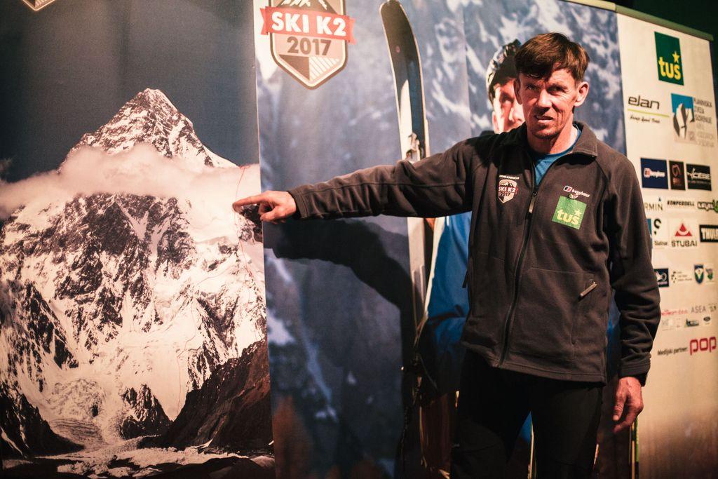 Davo Karničar namerava prvi presmučati sloviti K2