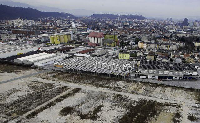 Bodoča lokacija trgovine IKEA v ljubljanskem BTC-ju 3.3.2017 Ljubljana Slovenija [IKEA,BTC,trgovine,Ljubljana,Slovenija]