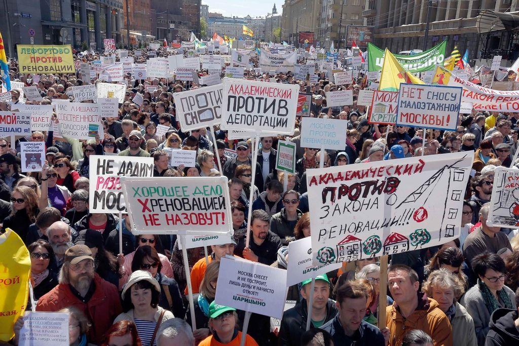 Moskovčani na ulicah zaradi napovedi rušenja blokov