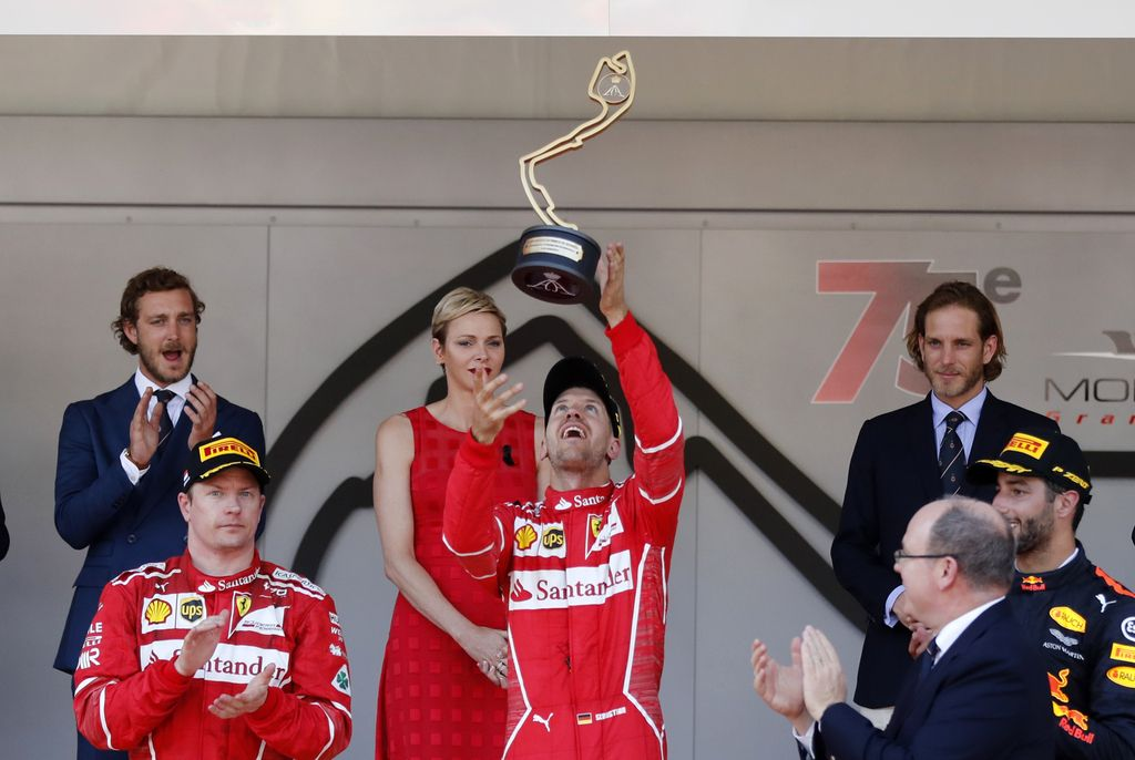 V Monaku najhitrejši Vettel, Mercedes brez stopničk