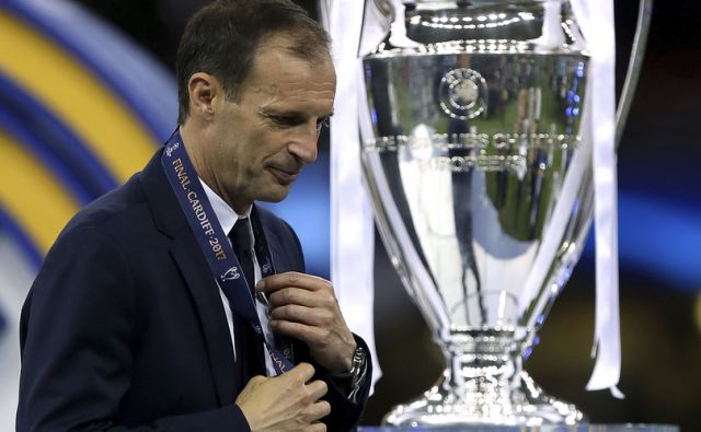 Juventus manager Massimiliano Allegri appears dejected after the UEFA Champions League Final at the National Stadium, Cardiff. PRESS ASSOCIATION Photo. Picture date: Saturday June 3, 2017. See PA story SOCCER Final. Photo credit should read: Nick