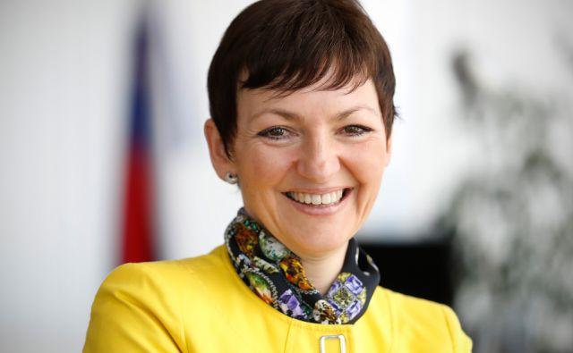 Maja Makovec Brenčič, ministrica za šolstvo Republike Slovenije, v Ljubljani, 4. aprila 2017. [Maja Makovec Brenčič,ministri,vlada,šolstvo,šport]