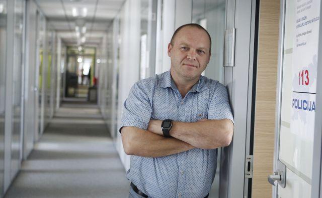 Vinko Stojnšek, kriminalist s Policijske uprave Ljubljana. Ljubljana, 3. avgust 2017 [Vinko Stojnšek,kriminalisti,Ljubljana,portreti]